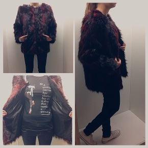 Bordeaux Faux Fur